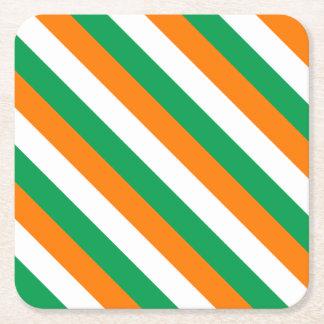 ireland-Flag Square Paper Coaster