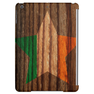 Ireland Flag Star on Wood theme Cover For iPad Air