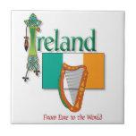 Ireland Flag Tile and Trivet