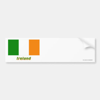 Ireland Flag with Name Car Bumper Sticker