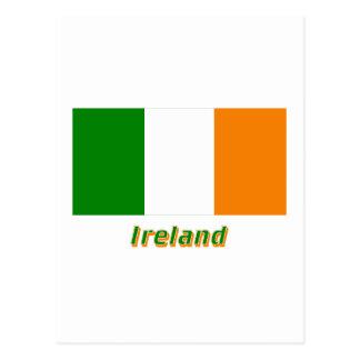 Ireland Flag with Name Postcard