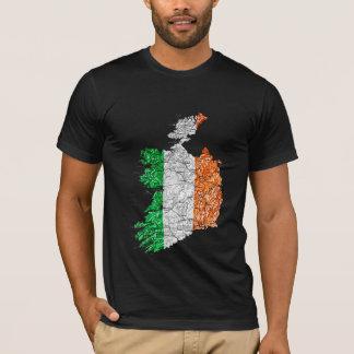 Ireland Flagcolor Map T-Shirt