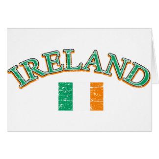 Ireland football design cards