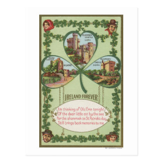 Ireland Forever - Cork and Killarney Castles Postcard