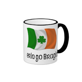 Ireland Forever Erin Go Bragh Irish Saying Ringer Coffee Mug