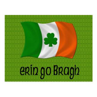 Ireland Forever Erin Go Bragh Irish Saying Postcard