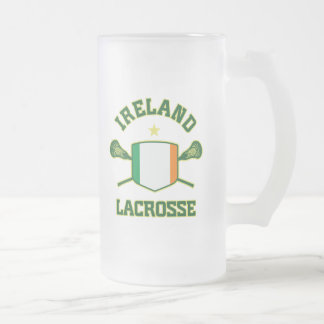 Ireland Frosted Glass Beer Mug