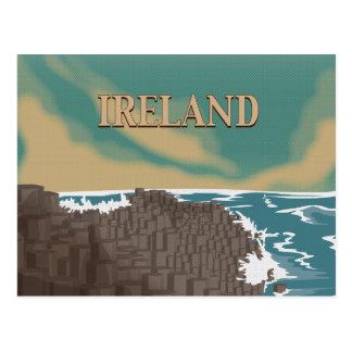 Ireland Giants Causeway Travel Poster Postcard