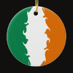 Ireland Gnarly Flag Ceramic Ornament