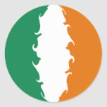 Ireland Gnarly Flag Classic Round Sticker