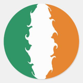 Ireland Gnarly Flag Classic Round Sticker
