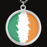 Ireland Gnarly Flag Silver Plated Necklace