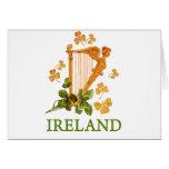 Ireland - Gold Irish Harp Greeting Card
