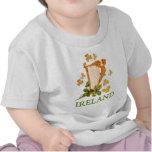 Ireland - Gold Irish Harp T-shirts