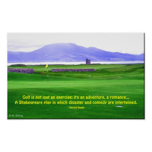 Ireland Golf Course Print