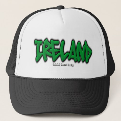 Ireland Graffiti Trucker Hat