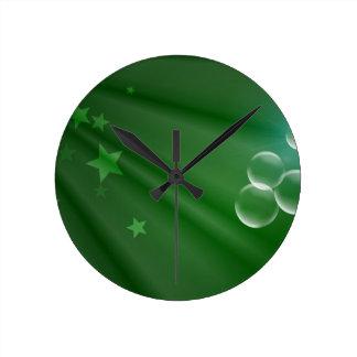 Ireland Green Pattern Art Peace Love Destiny Wallclocks