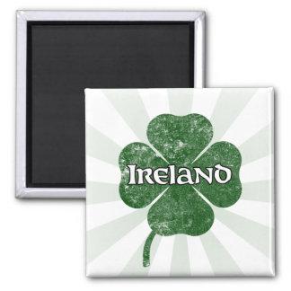Ireland Grunge Clover Magnet (dark)