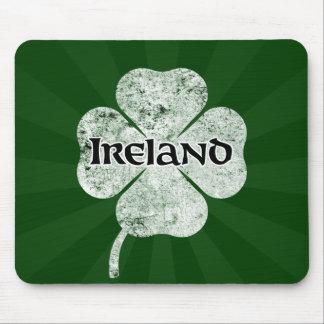 Ireland Grunge Clover Mousepad (light)