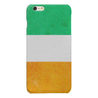 Ireland Grunge- Irish Tricolour Flag Glossy iPhone 6 Plus Case