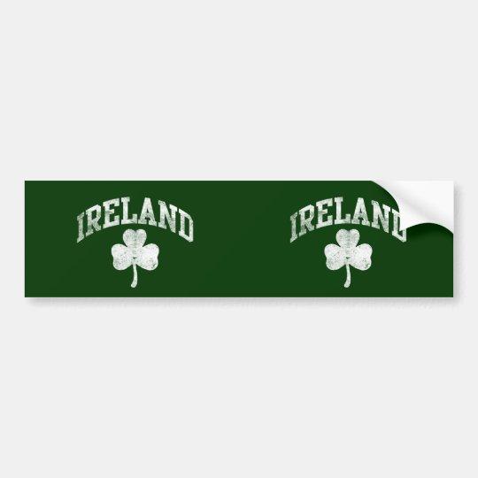 Ireland, Grunge Varsity Style Bumper Sticker