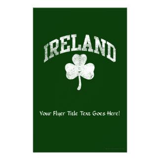 Ireland, Grunge Varsity Style Flyer