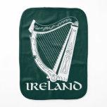 Ireland Harp Design, Irish Harp Burp Cloth