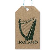 Ireland Harp Design, Irish Harp Gift Tags