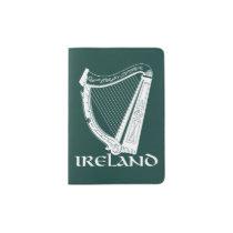 Ireland Harp Design, Irish Harp Passport Holder