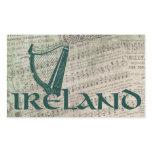 Ireland Harp Design, Irish Harp Rectangular Sticker
