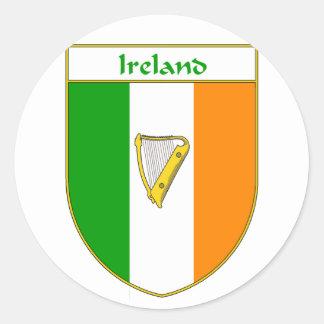 Ireland Harp Irish Flag Shield Classic Round Sticker