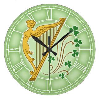 Ireland Harp Wallclock