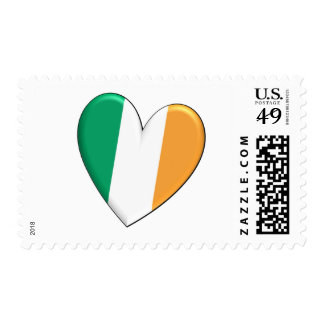 Ireland Heart Flag Stamps