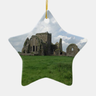 Ireland Hore Abbey Irish Ruins Rock of Cashel Christmas Tree Ornament