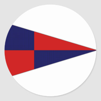 Ireland Howth Sailing Club Ensign Classic Round Sticker