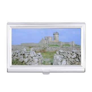 Ireland, Inishmore, Aran Island, Dun Aengus Fort Business Card Holder