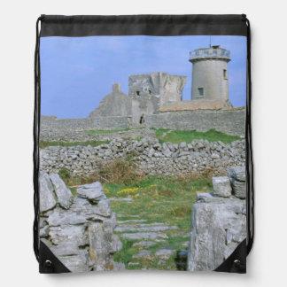Ireland, Inishmore, Aran Island, Dun Aengus Fort Drawstring Bag