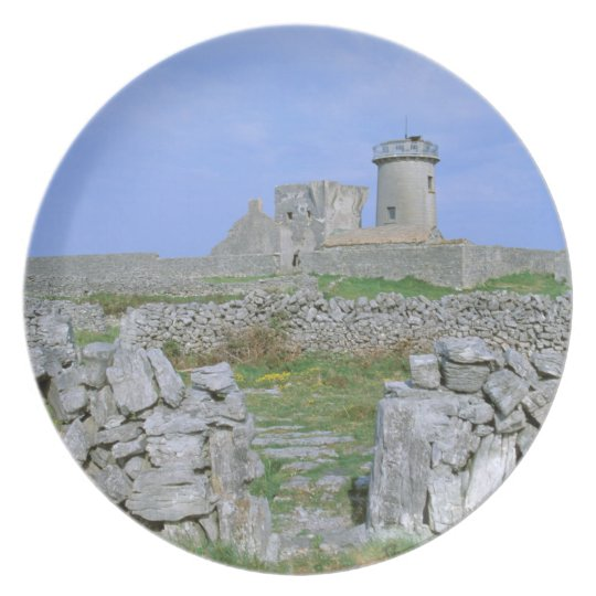 Ireland, Inishmore, Aran Island, Dun Aengus Fort Melamine Plate