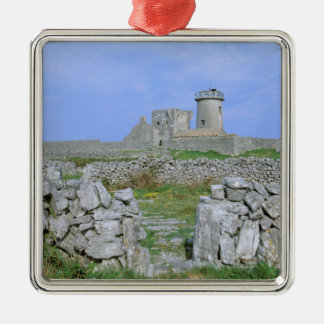 Ireland, Inishmore, Aran Island, Dun Aengus Fort Metal Ornament