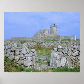 Ireland, Inishmore, Aran Island, Dun Aengus Fort Poster
