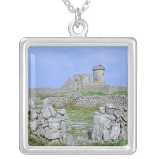 Ireland, Inishmore, Aran Island, Dun Aengus Fort Silver Plated Necklace