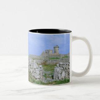 Ireland, Inishmore, Aran Island, Dun Aengus Fort Two-Tone Coffee Mug