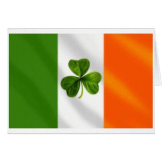 Ireland Irish Clover Eire flag Gear Card