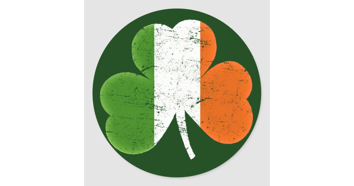 ireland flag shamrock