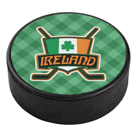 Ireland Irish Ice Hockey Team Puck