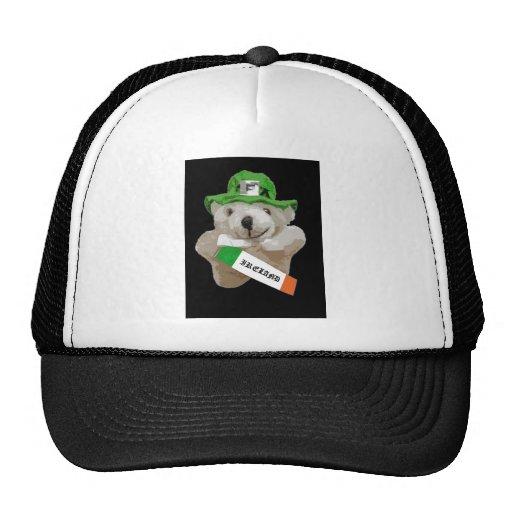 Ireland, Irish Leprechaun Teddy Bear, Black Trucker Hat