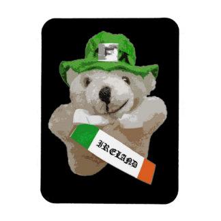 Ireland, Irish Leprechaun Teddy Bear, Black Flexible Magnet