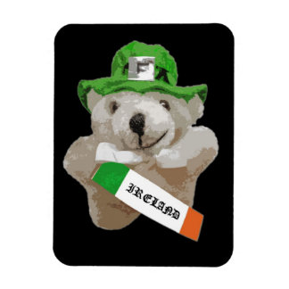 Ireland, Irish Leprechaun Teddy Bear, Black Rectangular Photo Magnet