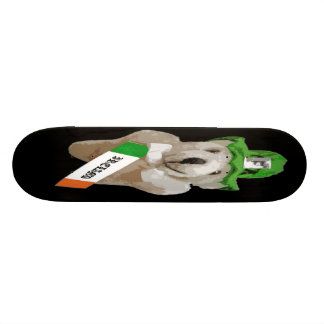 Ireland, Irish Leprechaun Teddy Bear, Black Skateboard Deck