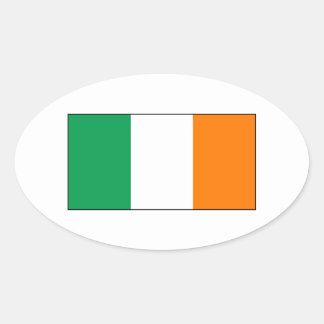 Ireland – Irish National Flag Oval Sticker